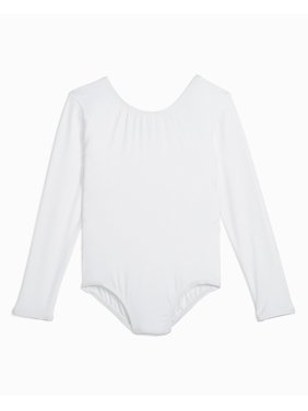 Danskin Girl's Long Sleeve Nylon Dance Leotard (Little Girls & Big Girls)
