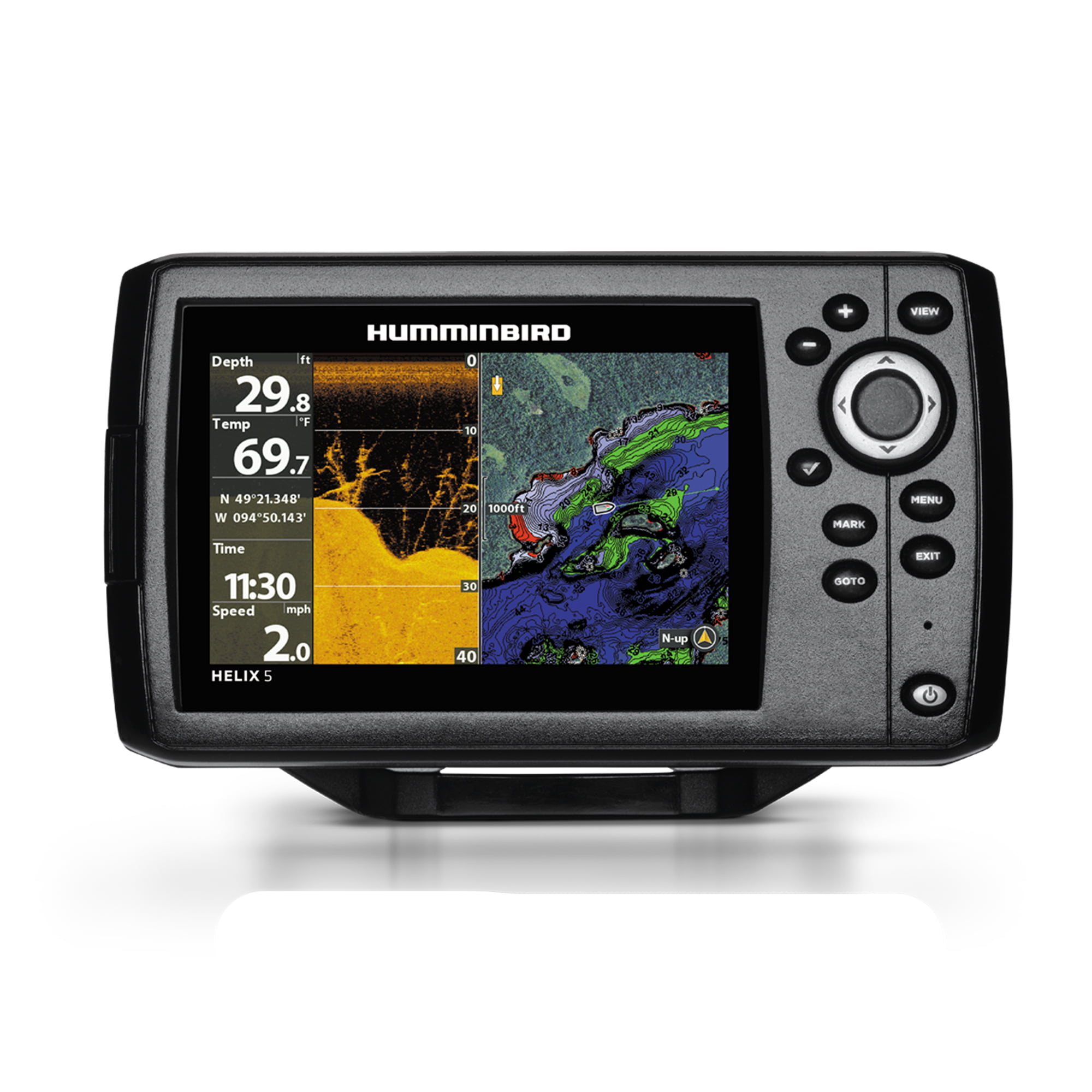 "Humminbird 410220-1NAV HELIX 5 CHIRP DI GPS G2 Sonar Fishfinder & Chartplotter with Down IMaging, Navionics & 5""... by Humminbird"