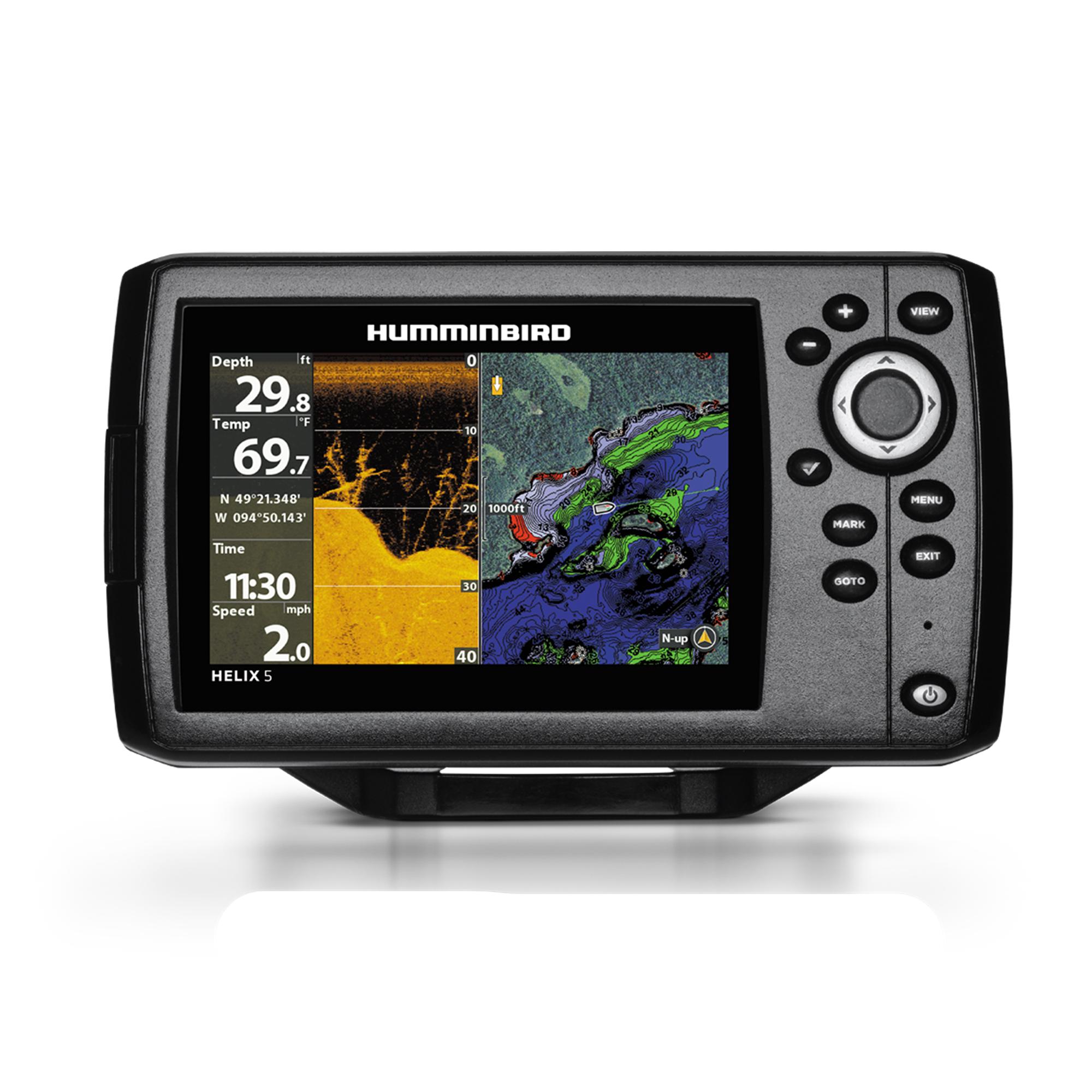 "Humminbird 410220-1NAV HELIX 5 CHIRP DI GPS G2 Sonar Fishfinder & Chartplotter with Down Imaging, Navionics & 5"" Display"