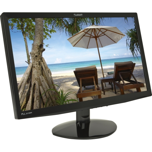 "Planar Systems 997-7305-00 Planar PLL2010MW 19.5"" LED LCD Monitor - 16:9 - 5 ms - Adjustable Display Angle - 1600 x 900 - 16.7 Million Colors - 250 Nit - 1,000:1 - HD+ - Speakers - DVI - VGA -"