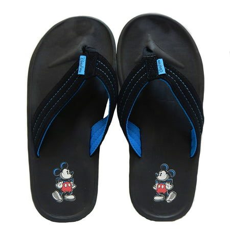 Disney Parks Mickey Mouse Men's Black Flip Flop Thong Sandals (Small