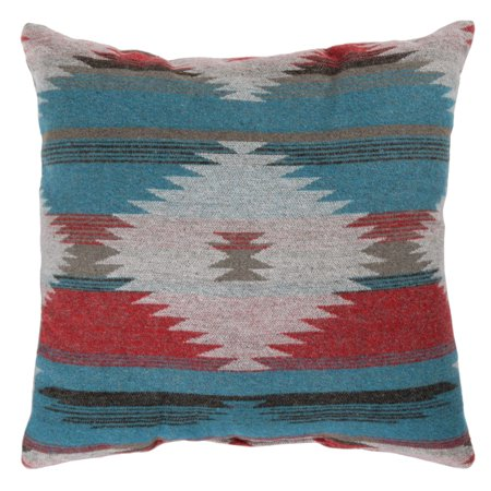Better Homes & Gardens Southwest Diamonds Decorative Pillow, 18u0022 x 18u0022, Turquoise