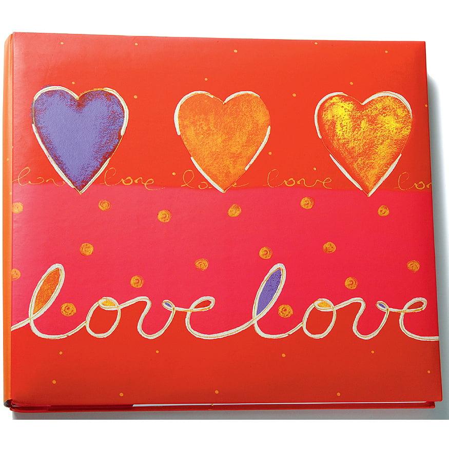 "Amanda Blu Print Postbound Album 12""X12""-Love/Red"