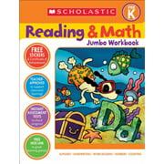 Reading & Math Jumbo Workbook: Grade Prek (Paperback)