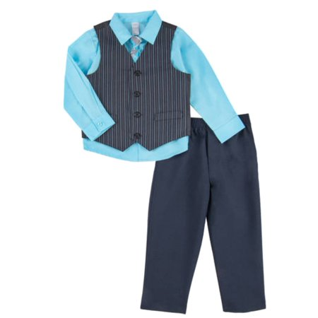 Infant & Toddler Boys Suit Blue & Black Pin Stripe Holiday Dress Up Outfit for $<!---->