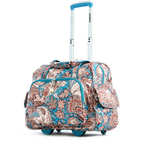 Olympia USA Deluxe Fashion Rolling Overnighter Luggage