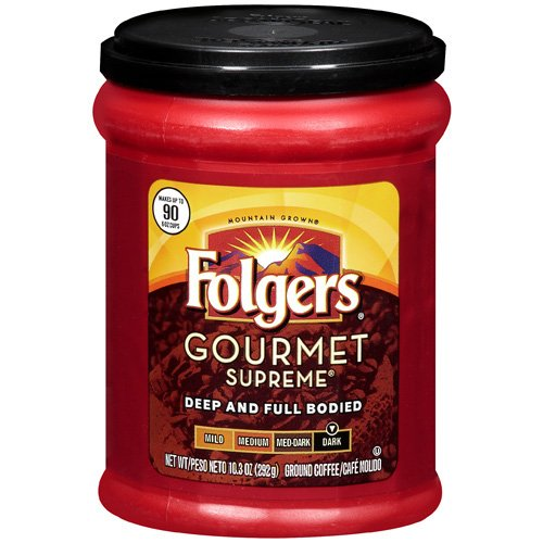 Folgers Gourmet Supreme Dark Roast Ground Coffee, 10.3 Oz