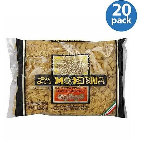 La Moderna Shells Pasta Macaroni Product  16 Oz   Pack Of 20