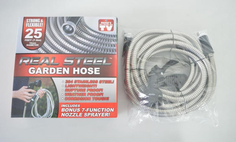 Real Steel Garden Hose 25 feet by Your Local Wholesaler