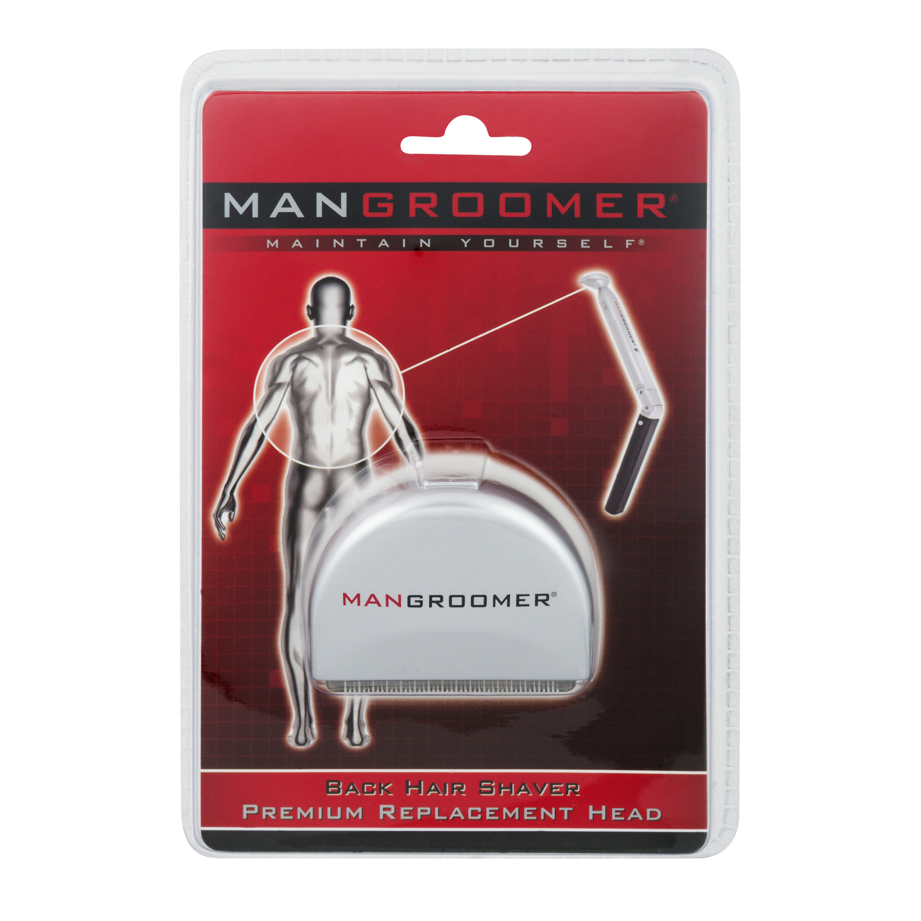 Man Groomer Back Hair Shaver Replacement Head, 1.0 CT