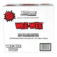 Wee-Wee Pads, 100 Count Bulk Pack Box
