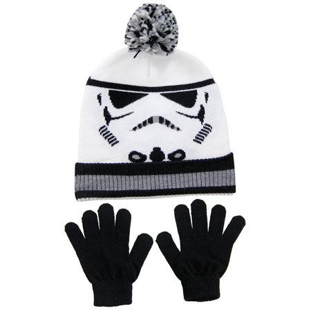 Stormtrooper Child Knit Pom Beanie and Glove - Stormtrooper Gloves