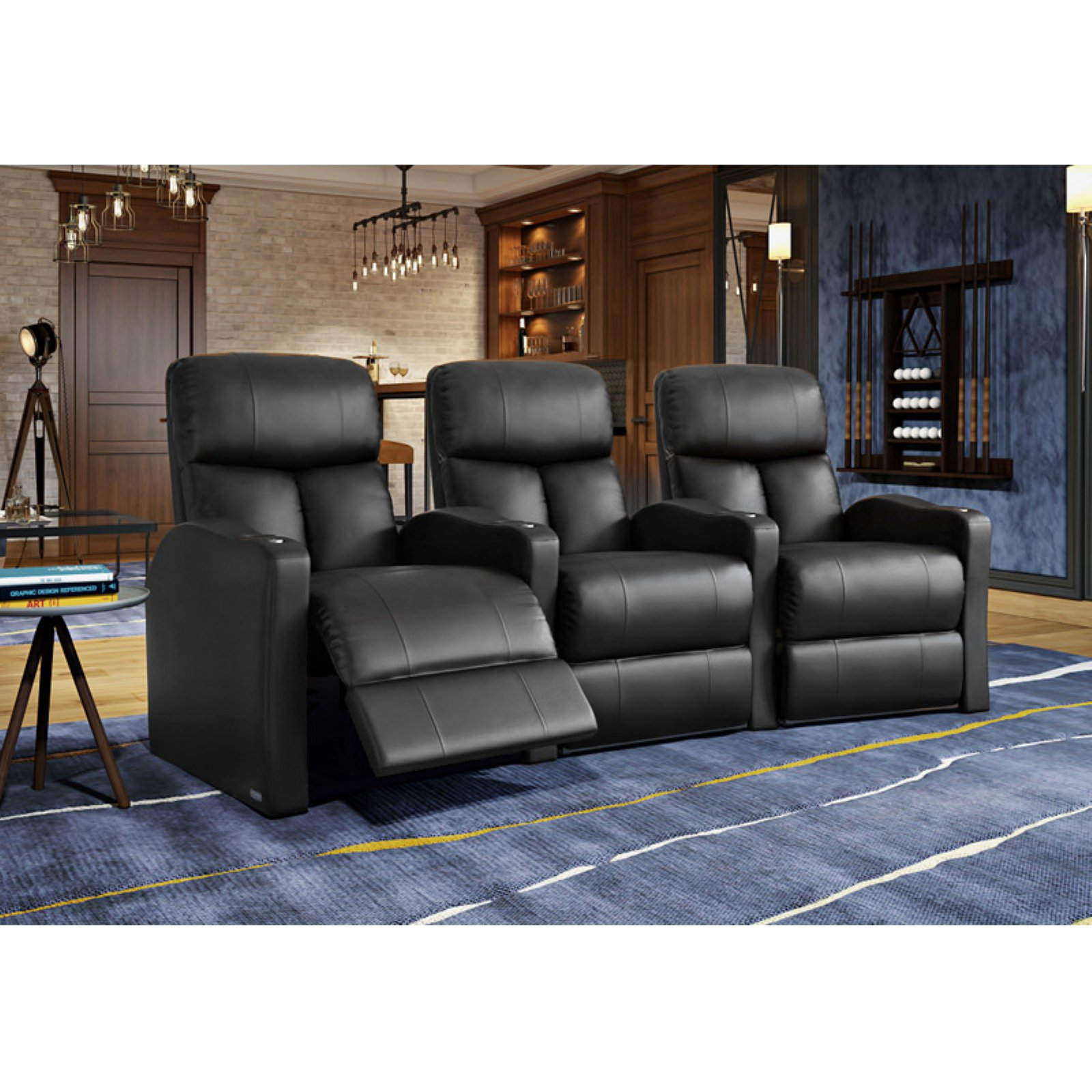 Octane Bolt XS400 3 Seater Curved Power Recline Home Theater Seating