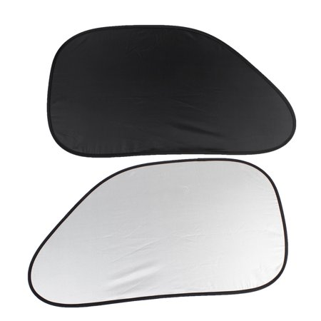 2pcs Black Polyester Car Auto Side Window Sunshade ()