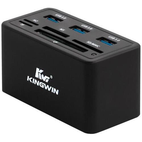 Kingwin KWCR-801U3 Super Speed All-In-1 USB 3.0 Card Reader + Hub Combo