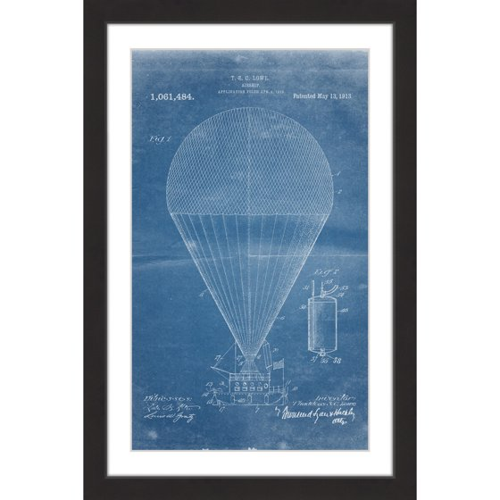 Airship 1913 blueprint framed painting print walmart airship 1913 blueprint framed painting print malvernweather Image collections