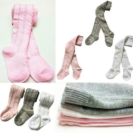 Toddler Infant Baby Girls Cotton Pantyhose Socks Stockings Tights (Pack of 3) ()