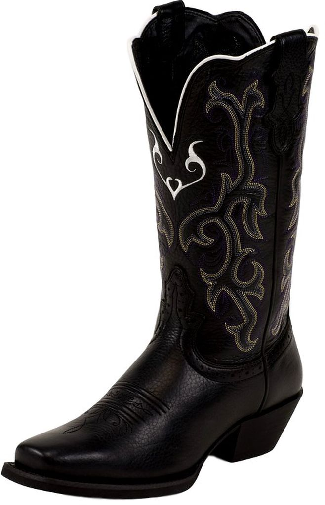 0c5d9a6b40d Justin - Justin Western Boots Womens Leather Stampede Deercow Black ...