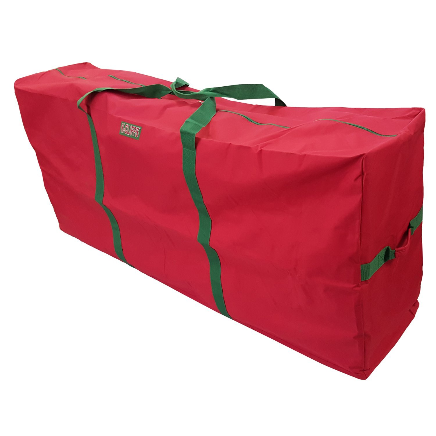 Heavy Duty Christmas Tree Storage Bag Fit Upto 6 Foot Artificial Holiday Red Extra Large 48 X15 X20