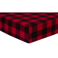 Buffalo Check Fitted Jersey Crib Sheet