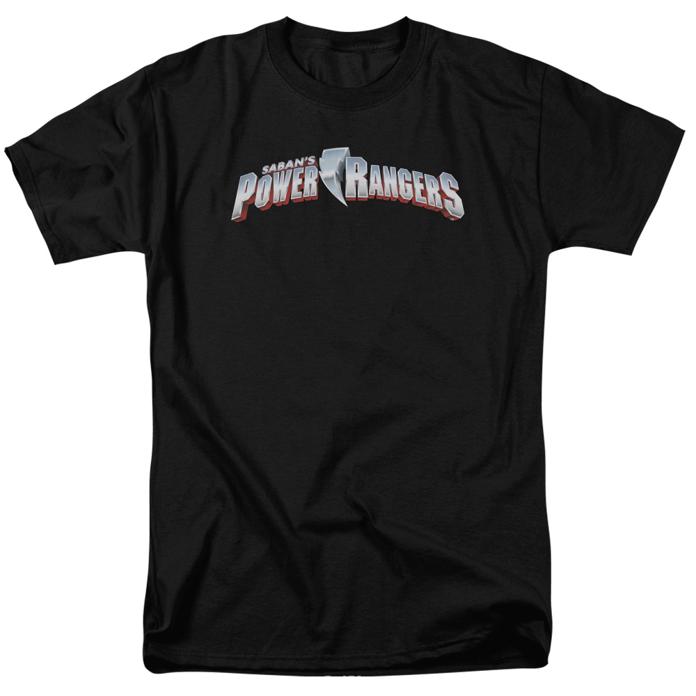 POWER RANGERS/NEW LOGO-S/S ADULT 18/1 - BLACK - 5X