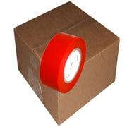 Red 7 mil UV Resistant Polyethylene Film Tape 2 inch x 60  yards 24 Roll Case