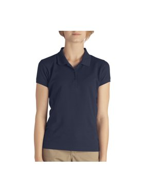 Genuine Dickies Girls School Uniform Short Sleeve Pique Polo (Little Girls)