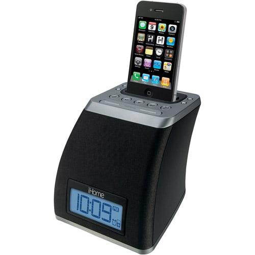 iHome iP21 App-Friendly Alarm Clock for iPhone and iPod, Gunmetal