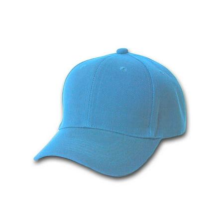 New Sky Blue Plain Blank Baseball Youth Cap - Plain Baseball Caps