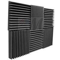 "6 Pack Acoustic Panels Studio Foam Wedges 2"" X 12"" X 12"""