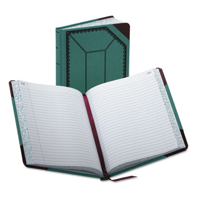 Esselte Record/Account Book, Blue/Red Cover, 300 Pages, 9...