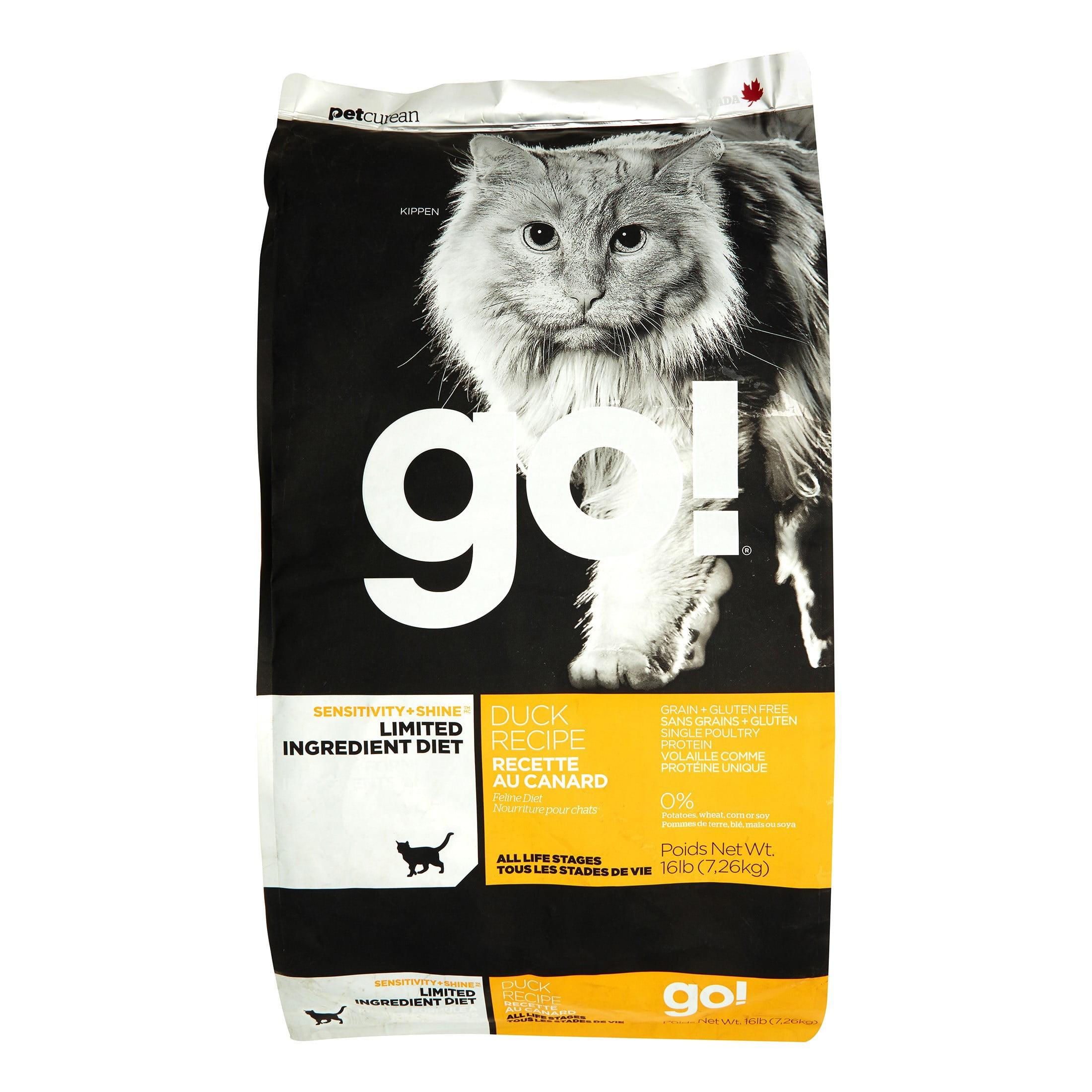 Petcurean Go! Sensitivity + Shine Limited Ingredient Grain-Free Duck Recipe Dry Cat Food, 16 lb