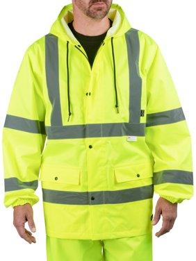 Walls Industries Men's High Visibility Rain Jacket