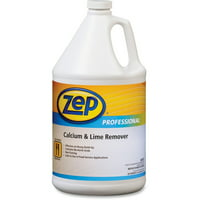 Zep Professional Calcium/Lime Remover - Concentrate Liquid Solution - 1 gal (128 fl oz) - Acidic, Mild Scent - 1 Each - Clear