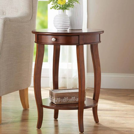 Better Homes & Gardens Round Accent Table with Drawer, Multiple Colors ()