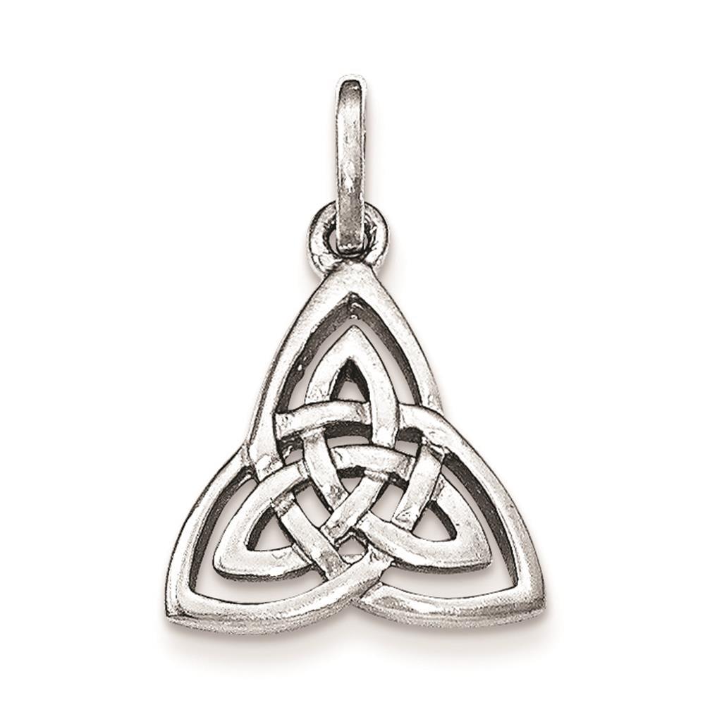 925 Sterling Silver Polished Celtic Symbol Charm Pendant