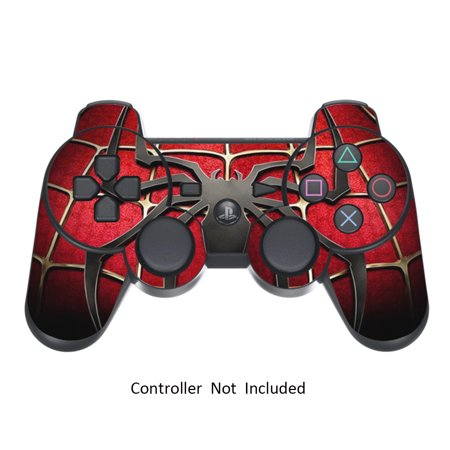 Ps3 Controller Skin - Skin Stickers for Playstation 3 Controller - Vinyl Sticker for DualShock 3 Wireless Game PS3 Sixaxis Controllers - Protectors Sticker Controller Decal Widow Maker Black