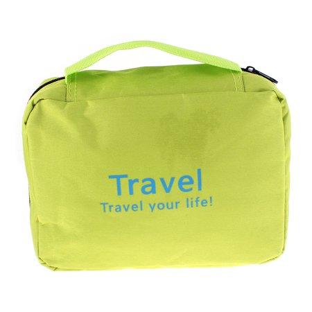 Unique Bargains Multifunction Travel Cosmetic Bag Makeup Pouch Toiletry Case Green