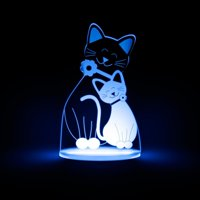 Total Dreamz Cat Multicolored LED Night Light