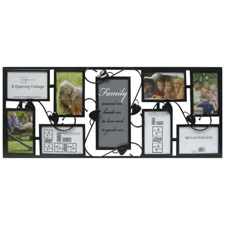 mainstays 8 opening metal collage frame with family expression