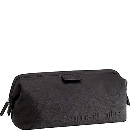 Samsonite- Leather Travel Accessories Framed Travel Kit (Black)