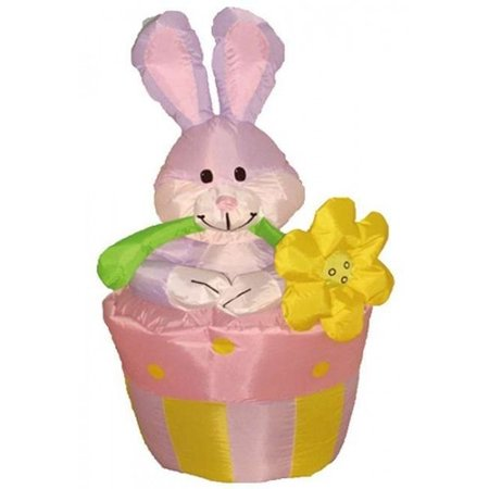 BZB Goods Easter Inflatable Rabbit on Flowerpot Decoration - Easter Goods