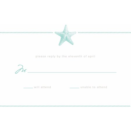 - Sophisticated Starfish Standard RSVP