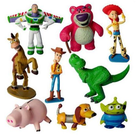 9PCS Toy Story 3 Woody Jessie Buzz Lightyear Figure Toys For - Woody Lightyear