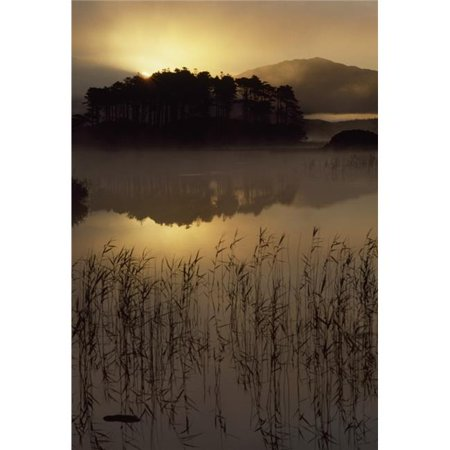 Lough Derryclare Co Galway Ireland - Sunset Casting Reflections On Lake Poster Print, Large - 24 x 36