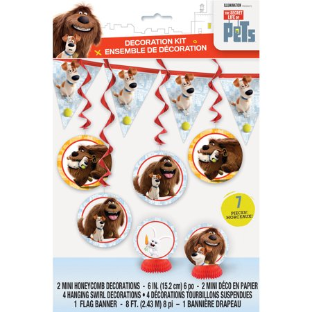 the secret life of pets party decorating kit 7pc