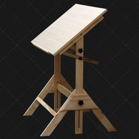 Ktaxon Pinewood Artist Drawing Table Drafting Table Desk Sketching Painting Drawing Board Studio Art Craft Station, Wood, Height Adjustable - image 3 de 7