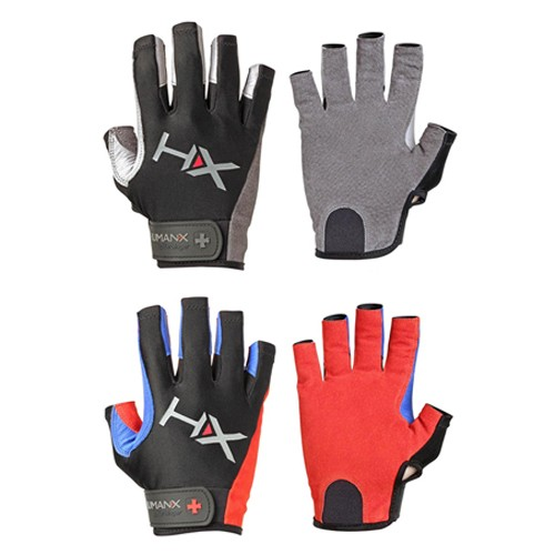 HumanX Men's X3 3/4 Finger Competition Glove, Red/Blue/Black, X-Large