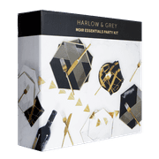 Black and Gold Essentials Party Kit, Serves 16, Great for Birthdays, Weddings, and Baby Showers