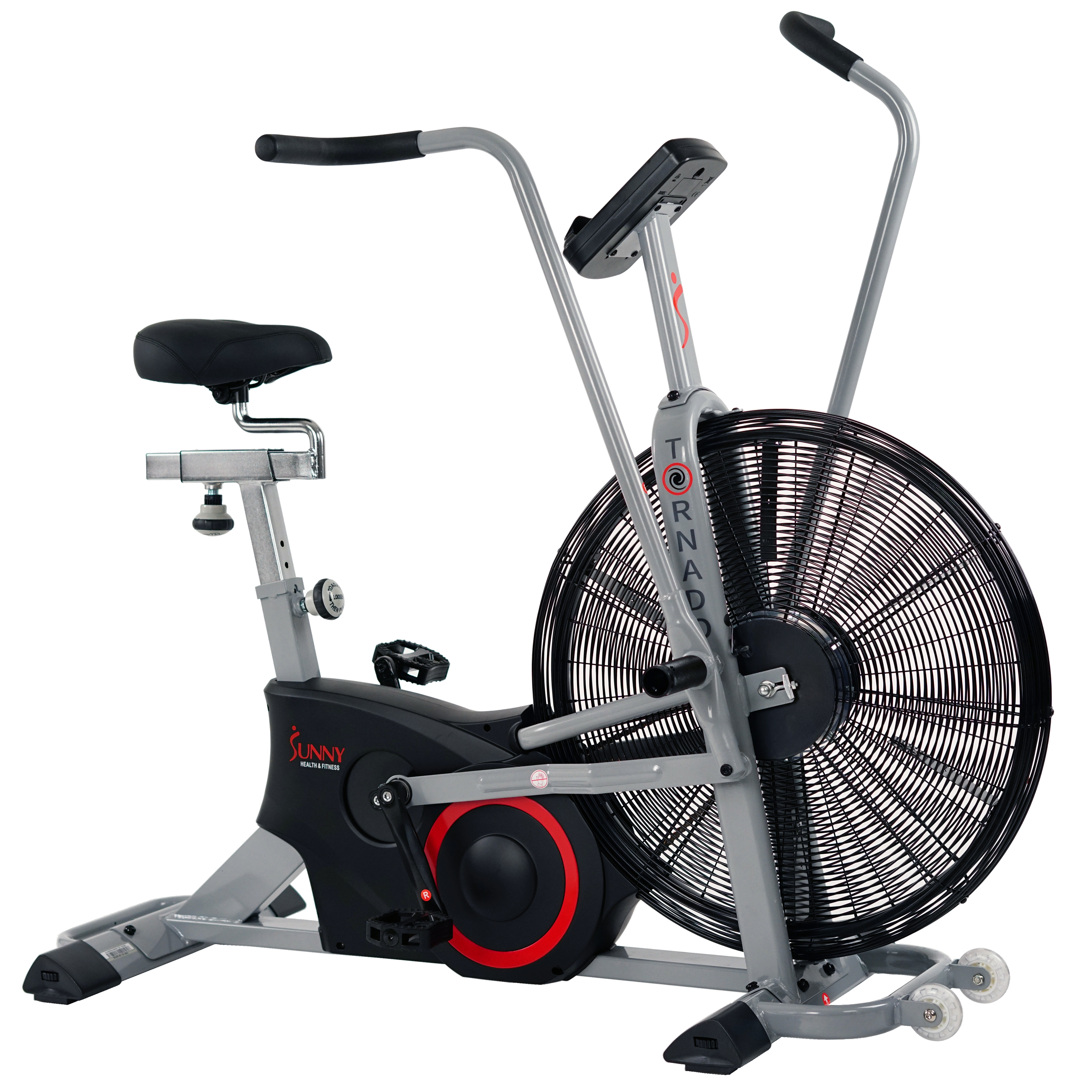 Sunny Health & Fitness Tornado Air Bike, Exercise Fan Bike, Bluetooth with Custom Workouts - SF-B2706